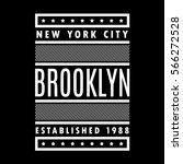 new york city. brooklyn. retro... | Shutterstock .eps vector #566272528