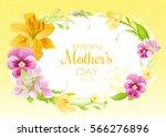 spring  background. happy... | Shutterstock .eps vector #566276896