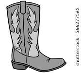 Cowboy Boot Illustration