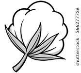 cotton illustration | Shutterstock .eps vector #566277736