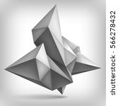 volume geometric shape  3d... | Shutterstock .eps vector #566278432