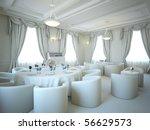 gray 3d interior salon and... | Shutterstock . vector #56629573