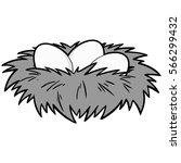 bird nest illustration | Shutterstock .eps vector #566299432