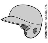baseball helmet illustration | Shutterstock .eps vector #566303776