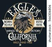 eagle head logo for t shirt ... | Shutterstock .eps vector #566306806