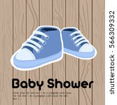 colored baby shower graphic... | Shutterstock .eps vector #566309332