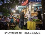 Food Truck Festival Blurred On...
