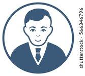 rounded gentleman vector icon.... | Shutterstock .eps vector #566346796