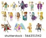 olympian gods and goddess from... | Shutterstock .eps vector #566351542