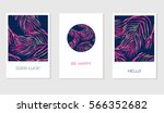 set of creative cards with... | Shutterstock .eps vector #566352682
