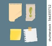 paper notes sheet for message... | Shutterstock .eps vector #566355712