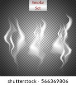 delicate white cigarette smoke...   Shutterstock .eps vector #566369806