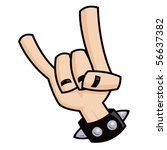 heavy metal  rock and roll ... | Shutterstock .eps vector #56637382