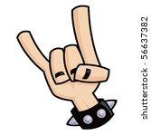 heavy metal  rock and roll ... | Shutterstock .eps vector #56637382