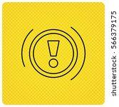 warning icon. dashboard... | Shutterstock . vector #566379175