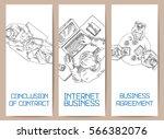 business illustration office...   Shutterstock .eps vector #566382076