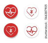 defibrillator icons | Shutterstock .eps vector #566387905