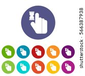click set icons in different... | Shutterstock .eps vector #566387938