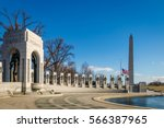 World War II Memorial and Washington Monument - Washington, D.C., USA
