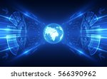 vector digital global... | Shutterstock .eps vector #566390962