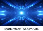 abstract speed technology... | Shutterstock .eps vector #566390986