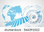 vector digital global... | Shutterstock .eps vector #566391022