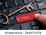 closed up finger on keyboard... | Shutterstock . vector #566411476