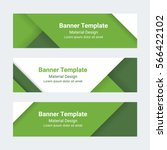 material design banners. set of ... | Shutterstock .eps vector #566422102