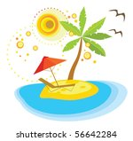 summer holiday icon | Shutterstock .eps vector #56642284