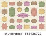 vector set of vintage frames on ... | Shutterstock .eps vector #566426722