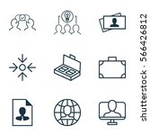 set of 9 business management... | Shutterstock .eps vector #566426812