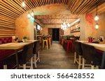 interior of a modern urban... | Shutterstock . vector #566428552