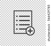 add list document icon vector...