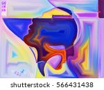 abstract painted design of... | Shutterstock . vector #566431438