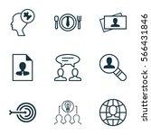 set of 9 business management... | Shutterstock .eps vector #566431846