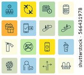 set of 16 transportation icons. ...   Shutterstock .eps vector #566431978