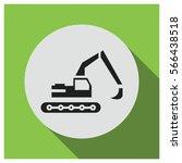 excavator vector icon | Shutterstock .eps vector #566438518