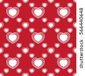 seamless pattern with heart.... | Shutterstock .eps vector #566440648