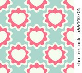 seamless pattern with heart.... | Shutterstock .eps vector #566440705