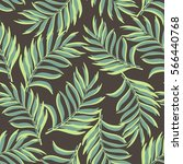 tropical background with palm... | Shutterstock .eps vector #566440768