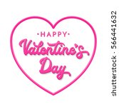 3d letters happy valentines day.... | Shutterstock .eps vector #566441632