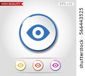 colored icon or button of eye... | Shutterstock .eps vector #566443525