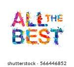 all the best. vector splash... | Shutterstock .eps vector #566446852