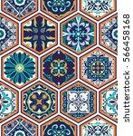 vector seamless texture.... | Shutterstock .eps vector #566458168