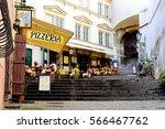 prague  czech republic ... | Shutterstock . vector #566467762