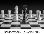 chess pieces on chessboard... | Shutterstock . vector #566468788