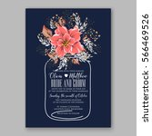 wedding invitations with... | Shutterstock .eps vector #566469526