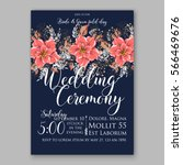 wedding invitations with... | Shutterstock .eps vector #566469676