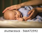 Newborn Baby Sleeps With Caring ...