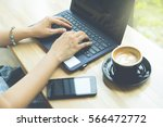 businesswoman  working with... | Shutterstock . vector #566472772